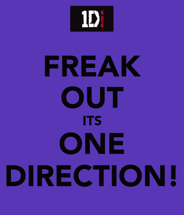 FREAK OUT ITS ONE DIRECTION!
