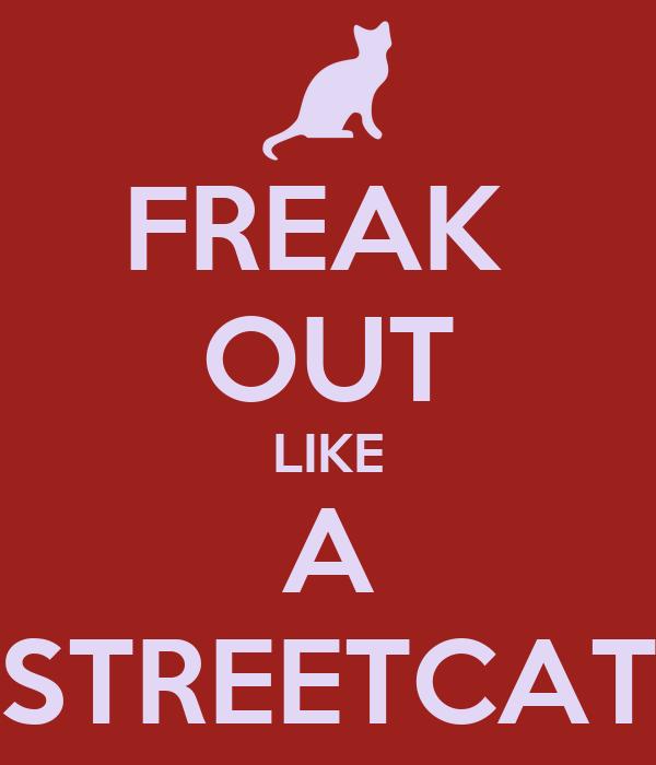 FREAK  OUT LIKE A STREETCAT