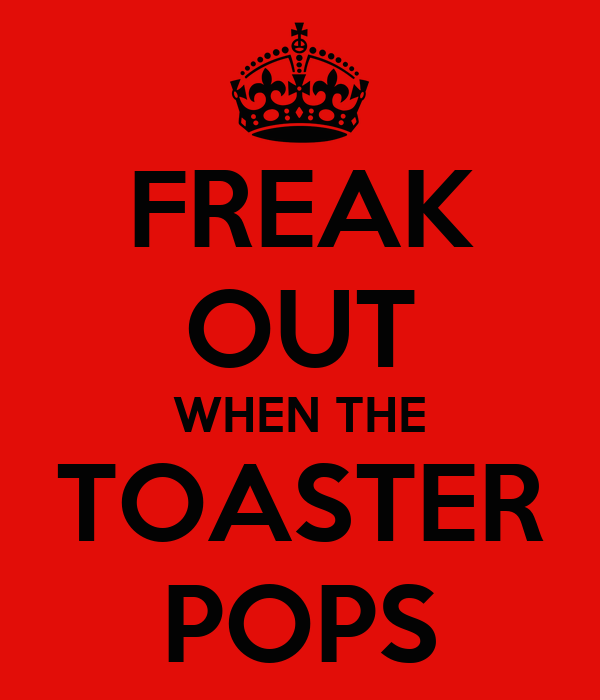 FREAK OUT WHEN THE TOASTER POPS