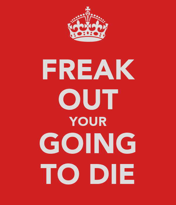 FREAK OUT YOUR GOING TO DIE