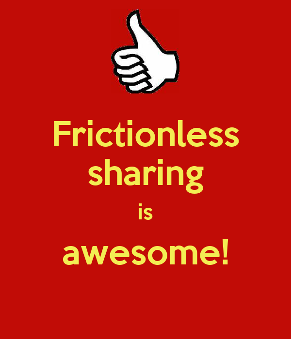 Frictionless sharing is awesome!