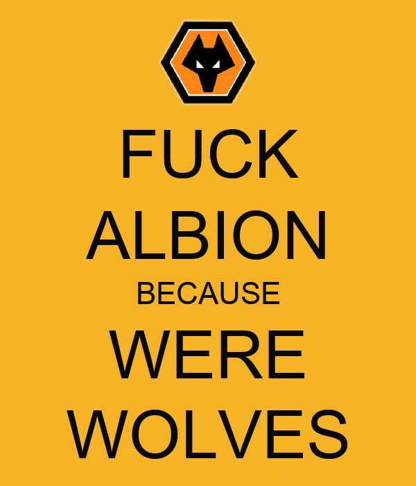 FUCK ALBION BECAUSE WERE WOLVES