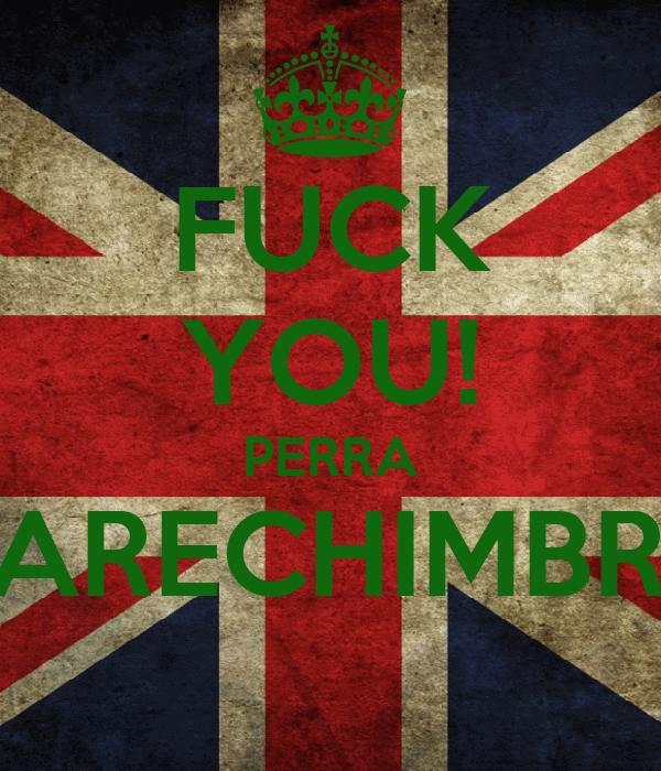 FUCK YOU! PERRA CARECHIMBRA