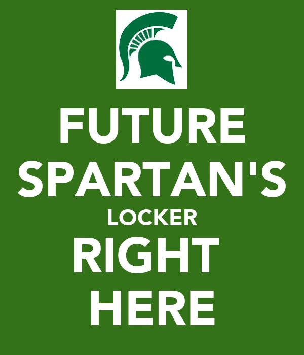 FUTURE SPARTAN'S LOCKER RIGHT  HERE