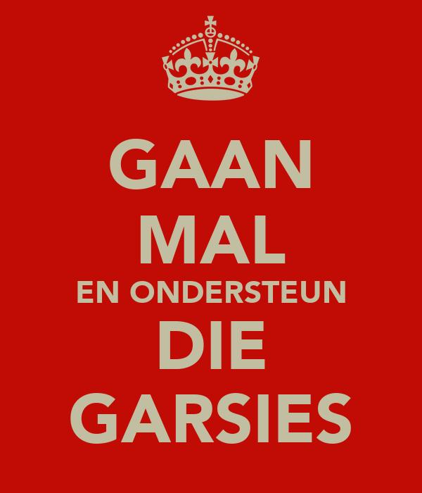 GAAN MAL EN ONDERSTEUN DIE GARSIES