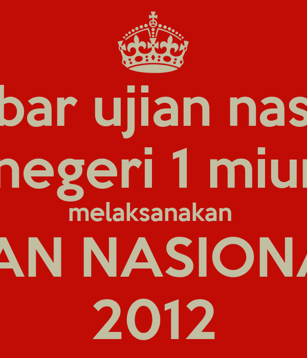 gambar ujian nasional smp negeri 1 miungkid melaksanakan  ujiAN NASIONAL  2012