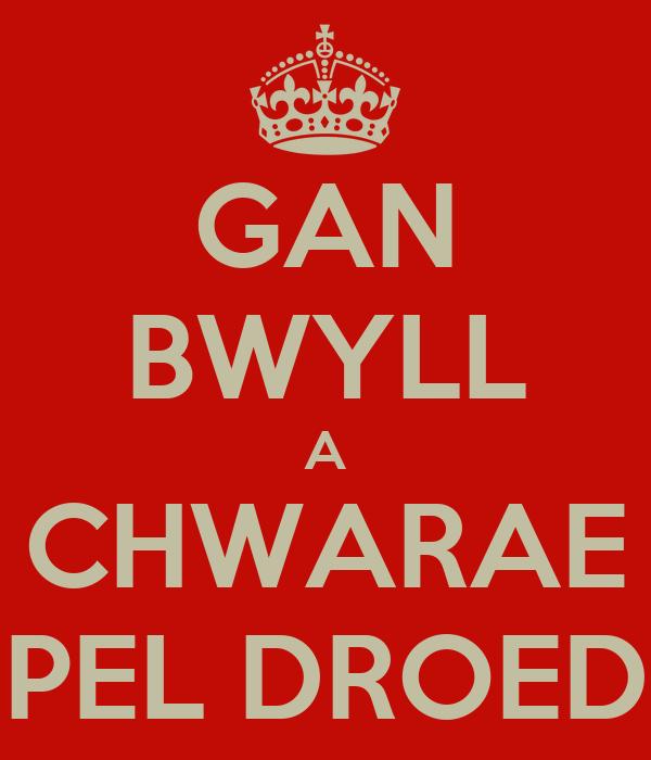 GAN BWYLL A CHWARAE PEL DROED