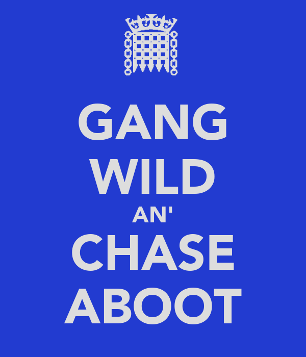 GANG WILD AN' CHASE ABOOT