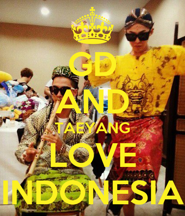 GD AND TAEYANG LOVE INDONESIA