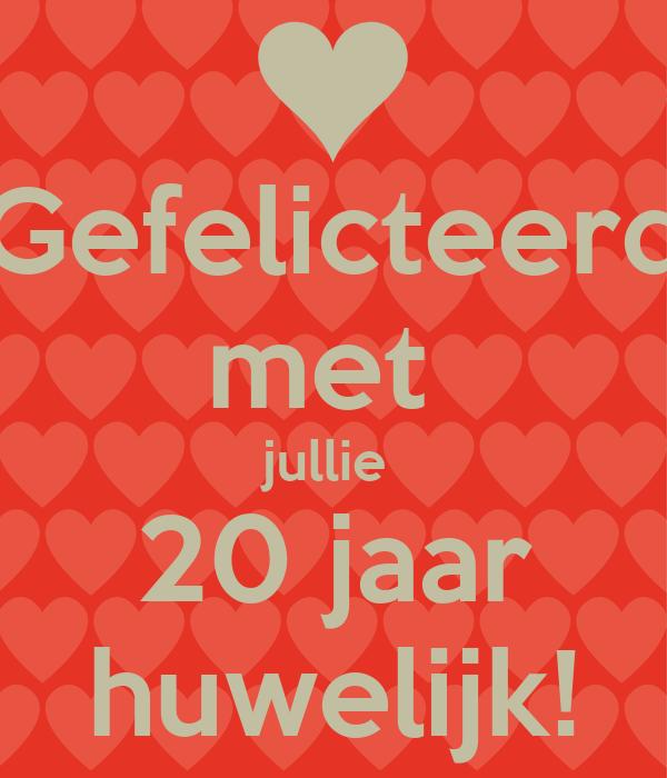 20 Jarig Huwelijk