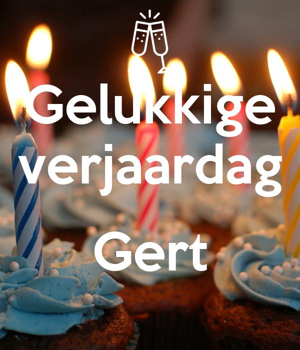 Gelukkige verjaardag  Gert