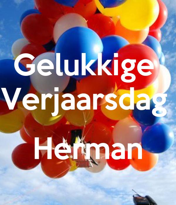 Gelukkige  Verjaarsdag   Herman