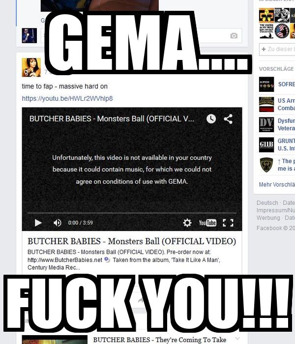 GEMA.... FUCK YOU!!!