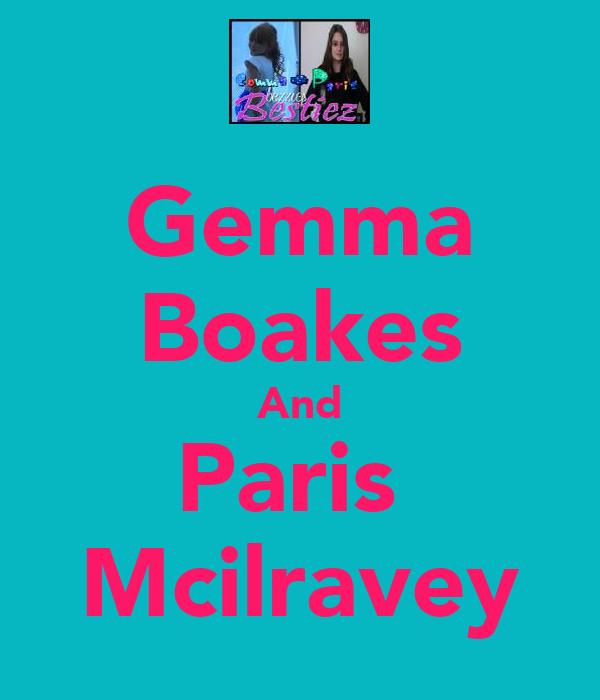 Gemma Boakes And Paris  Mcilravey