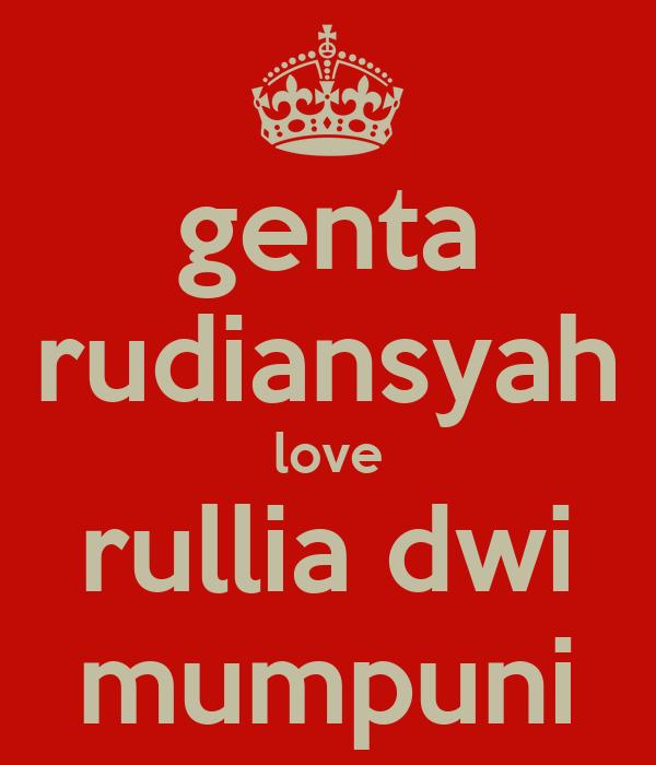 genta rudiansyah love rullia dwi mumpuni