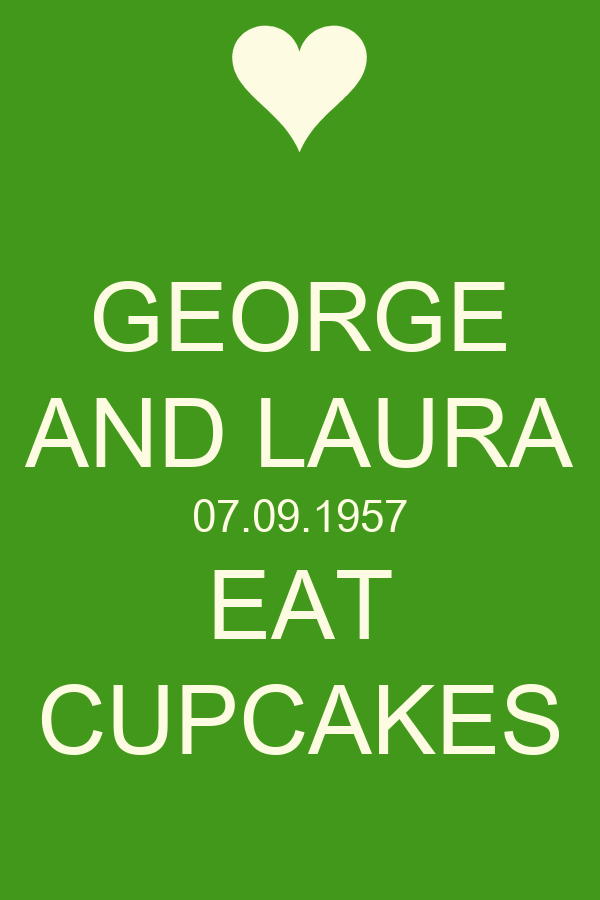 GEORGE AND LAURA 07.09.1957 EAT CUPCAKES