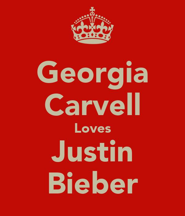 Georgia Carvell Loves Justin Bieber