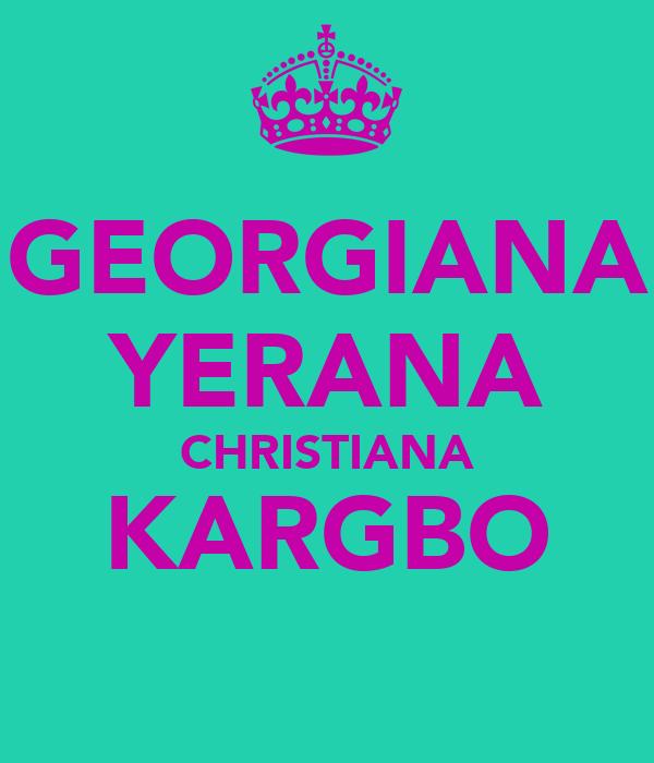GEORGIANA YERANA CHRISTIANA KARGBO