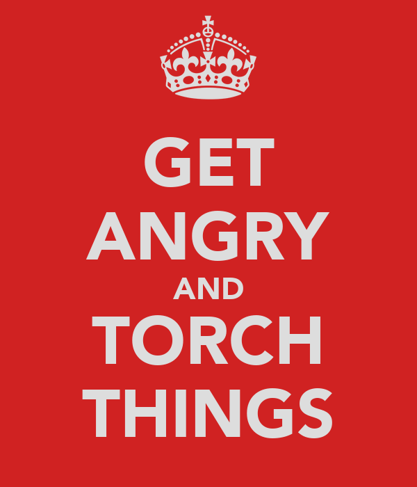 GET ANGRY AND TORCH THINGS