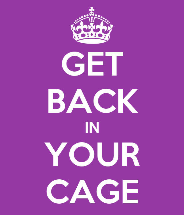 GET BACK IN YOUR CAGE