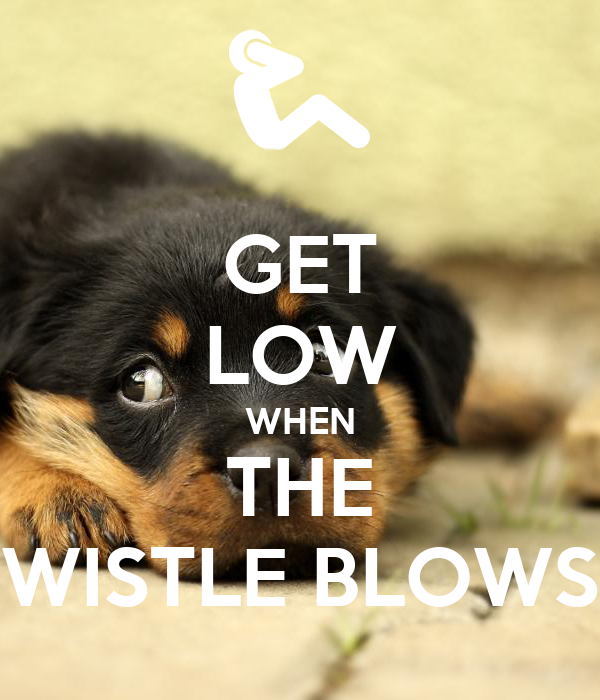 GET LOW WHEN THE WISTLE BLOWS