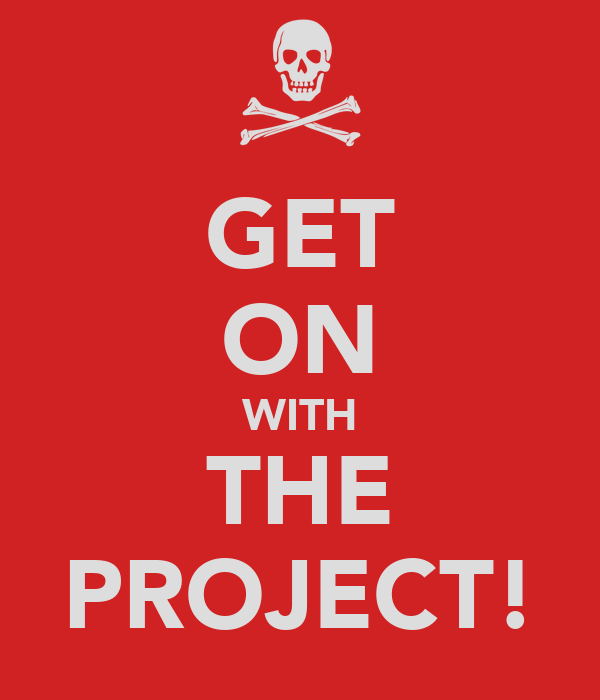 GET ON WITH THE PROJECT!