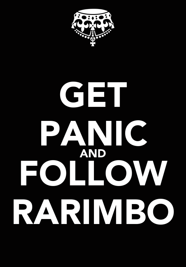 GET PANIC AND FOLLOW RARIMBO