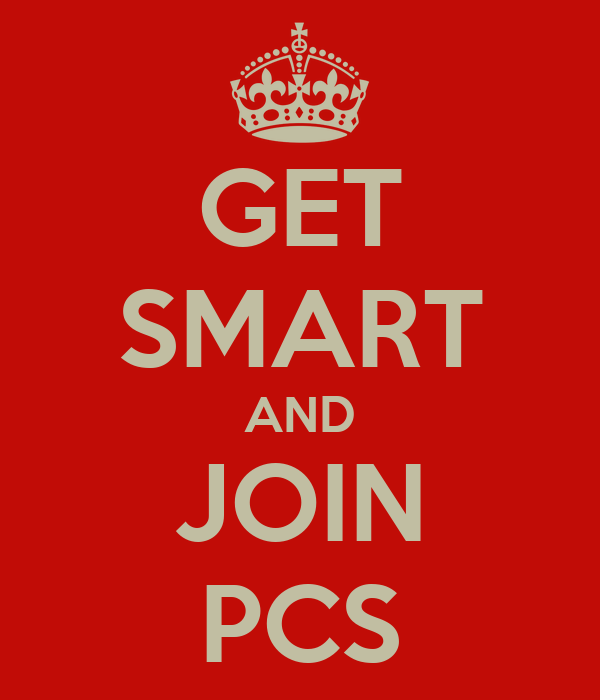 GET SMART AND JOIN PCS
