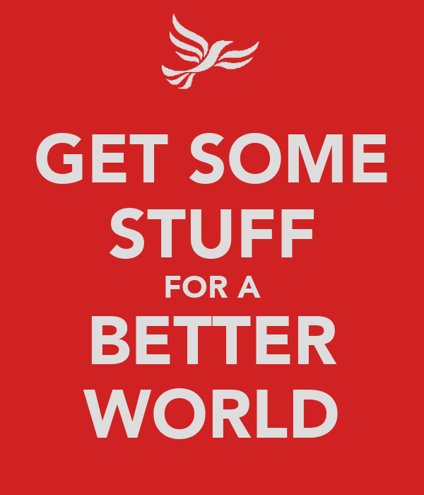 GET SOME STUFF FOR A BETTER WORLD