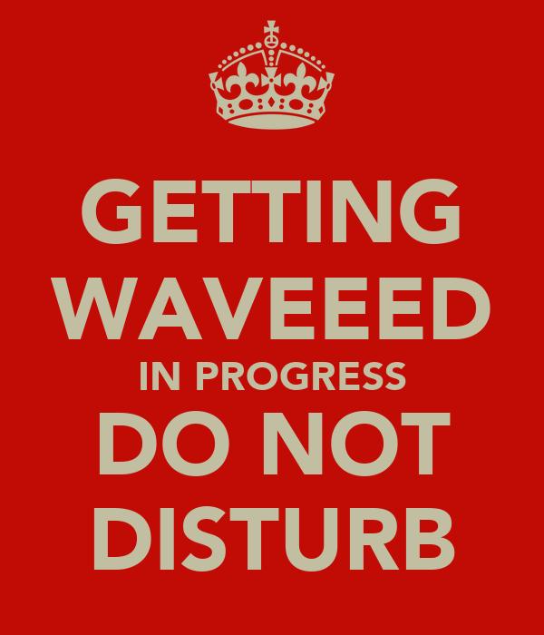 GETTING WAVEEED IN PROGRESS DO NOT DISTURB