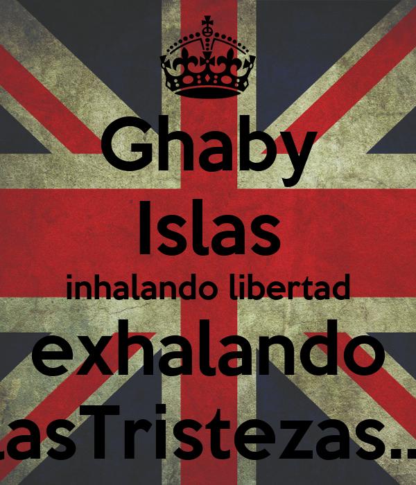 Ghaby Islas inhalando libertad  exhalando   lasTristezas....