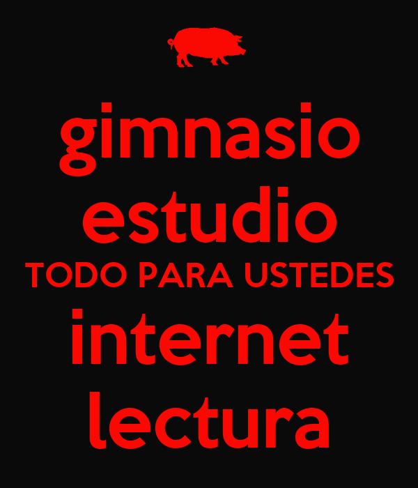 Gimnasio estudio todo para ustedes internet lectura poster for Posters para gimnasios