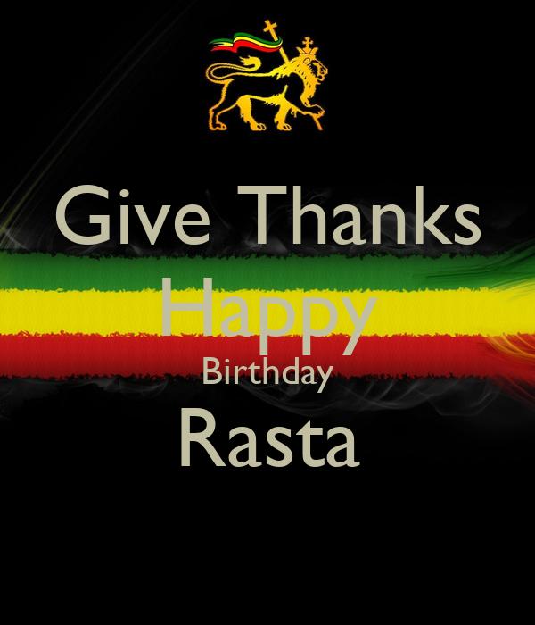 Give Thanks Happy Birthday Rasta Poster Frank Thomas Keep Calm O