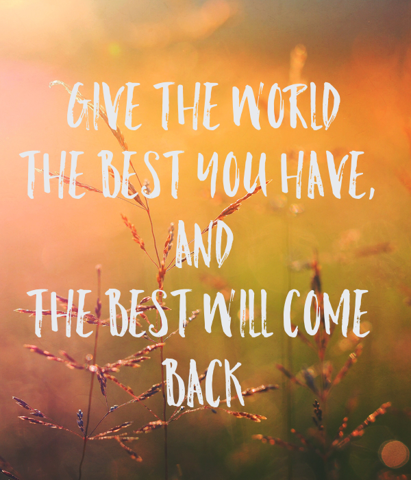 give back the world Giving back to the world but when they arise they make me feel a bit squeamish because there are the contributions i wish to give back and then there are the.
