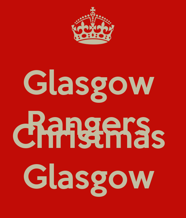 Glasgow  Rangers  Merry  Christmas  Glasgow