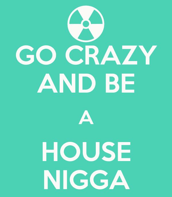 GO CRAZY AND BE A HOUSE NIGGA