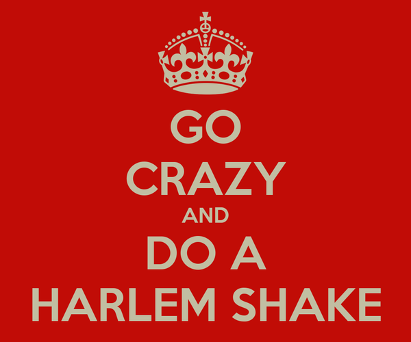 GO CRAZY AND DO A HARLEM SHAKE
