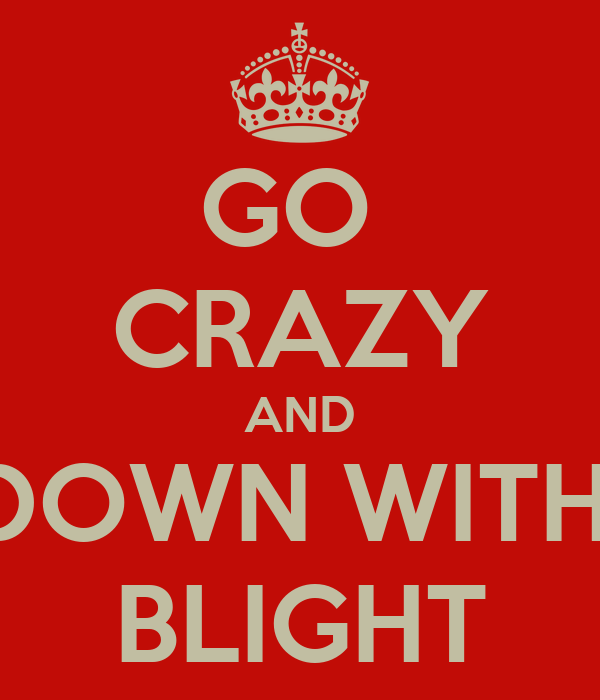 GO  CRAZY AND DOWN WITH  BLIGHT
