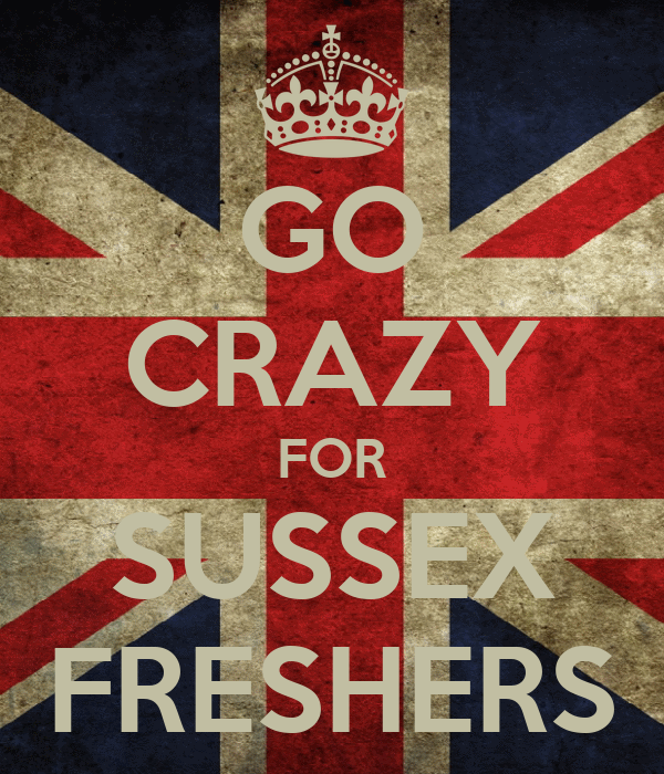 GO CRAZY FOR SUSSEX FRESHERS