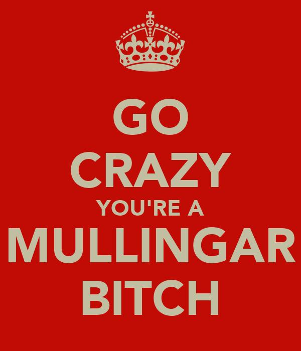 GO CRAZY YOU'RE A MULLINGAR BITCH