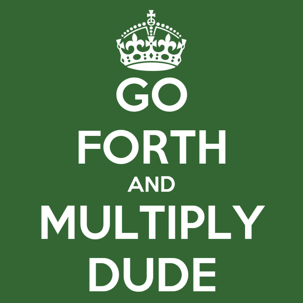 GO FORTH AND MULTIPLY DUDE