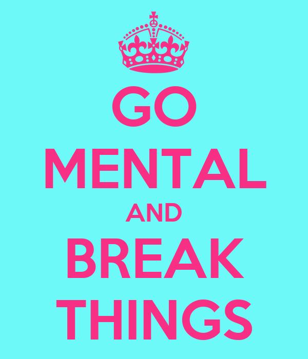 GO MENTAL AND BREAK THINGS
