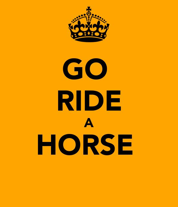 GO  RIDE A HORSE