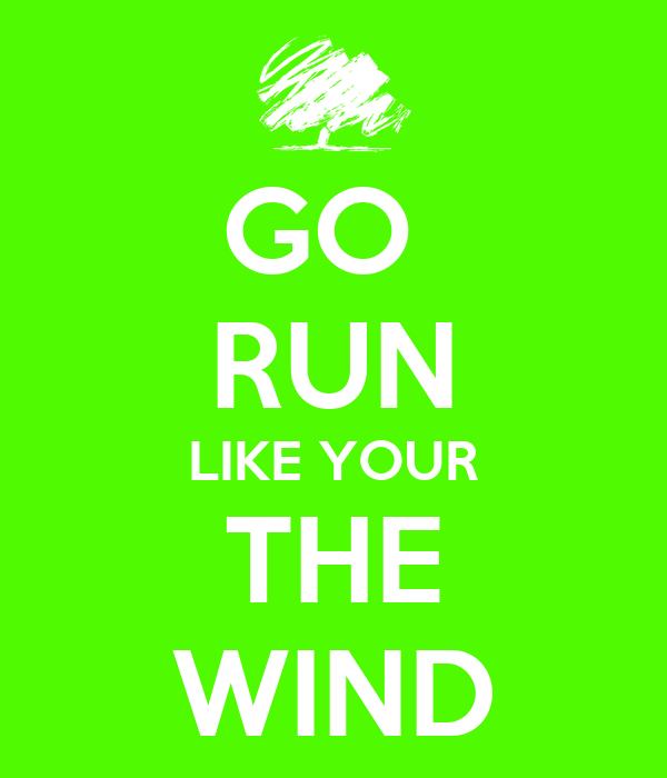 GO  RUN LIKE YOUR THE WIND