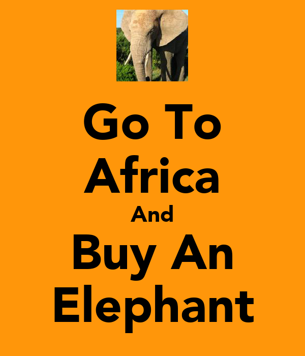 Go To Africa And Buy An Elephant