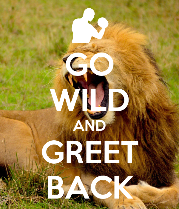 GO WILD AND GREET BACK