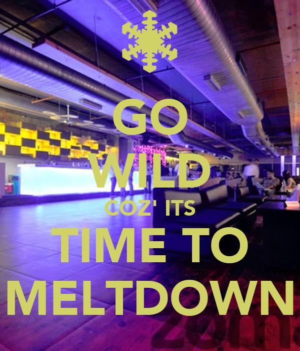 GO WILD COZ' ITS TIME TO MELTDOWN
