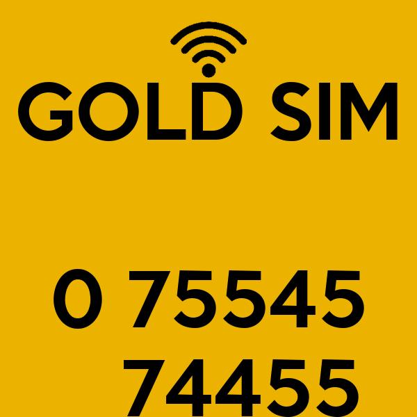GOLD SIM   0 75545    74455
