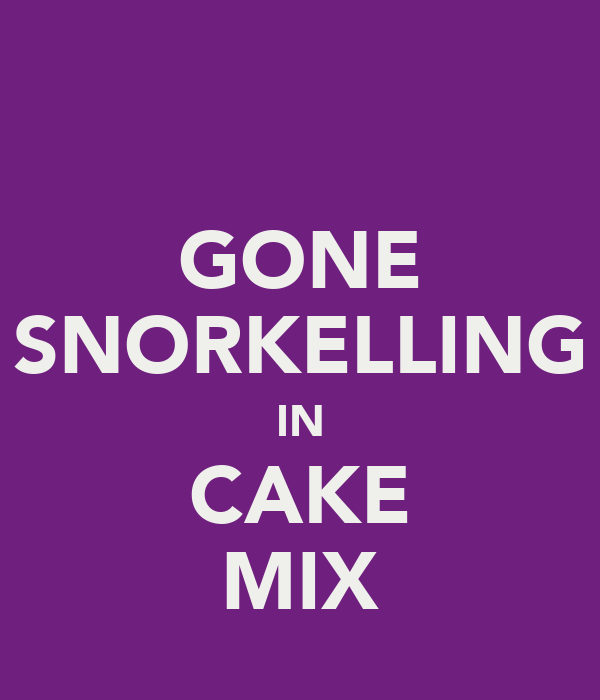 GONE SNORKELLING IN CAKE MIX