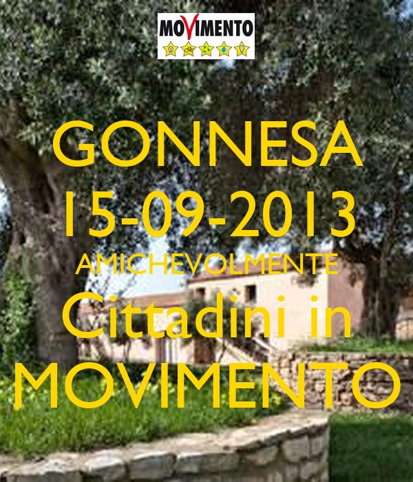 GONNESA 15-09-2013 AMICHEVOLMENTE Cittadini in MOVIMENTO